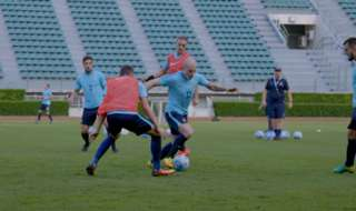 Caltex Socceroo Massimo Luongo says Aaron Mooy's development shows the A-League can help catapult players onto greener pastures.