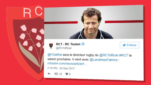 Top 14 - RCT : Fabien Galthié arrive, Mike Ford s'en va