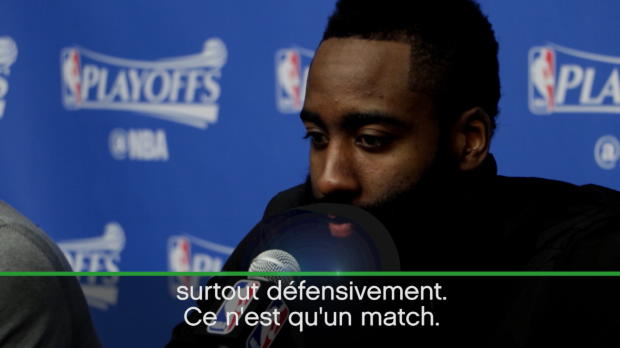 "Basket : NBA - Playoffs - Harden - ""Ce n'est qu'un match"""