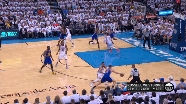 Move of the Night: Klay Thompson