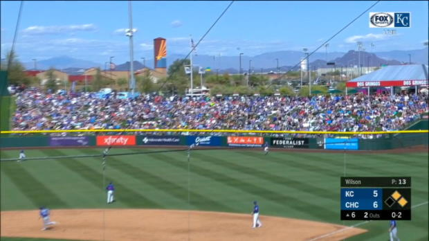 Moustakas' three-run long ball