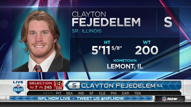 Bengals pick Clayton Fejedelem No. 245