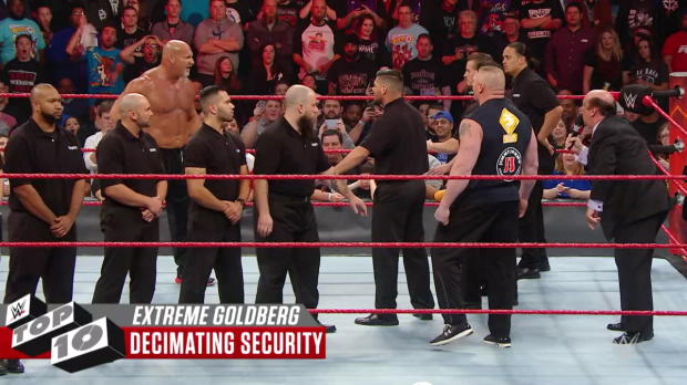 Goldberg's most extreme moments - WWE Top 10, Sept. 23, 2017