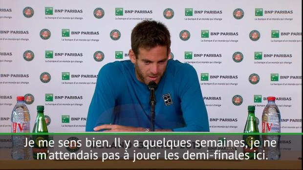 : Roland Garros - Del Potrro - 'Tellement heureux d'avoir pris la bonne décision'