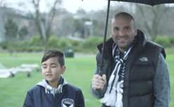 Yoshi finds out what it means to be part of the Victory family from superfan George Calombaris.