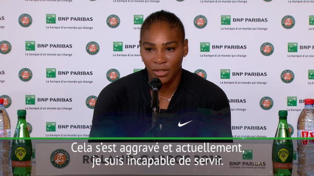 "Basket : Roland-Garros - Williams - ""Je suis incapable de servir"""
