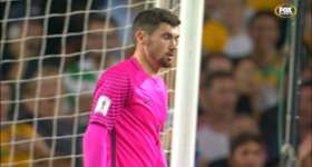 Mat Ryan kept Australia's goal in tact with a stunning save to deny UAE superstar Omar Abdulrahman in Sydney.