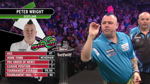 Premier League Darts Halbfinale: Wright - Taylor