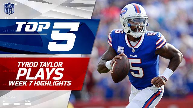Tyrod Taylor Top 5 plays | Week 7