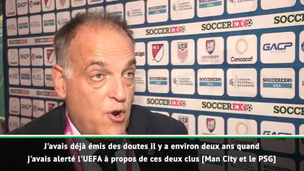 Football Leaks - Tebas - 'Pas surpris concernant le PSG et Manchester City'