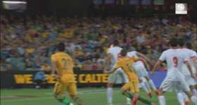 Nathan Burns says he was thrilled to notch a brace in Australia's thumping 7-0 win over Tajikistan.