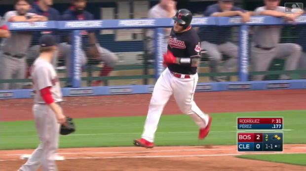 Perez schlägt Homerun gegen Red Sox