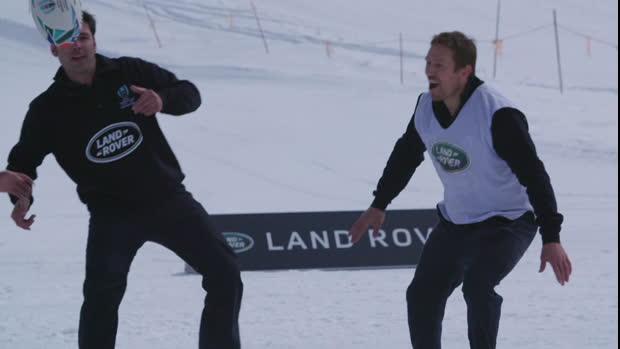 Wilkinson et Yachvili s'essaient au Snow Rugby