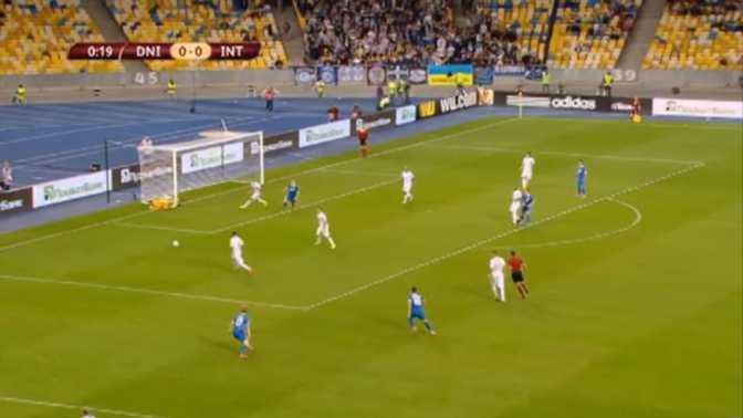L.Europa : Dnipro 0-1 Inter Milan