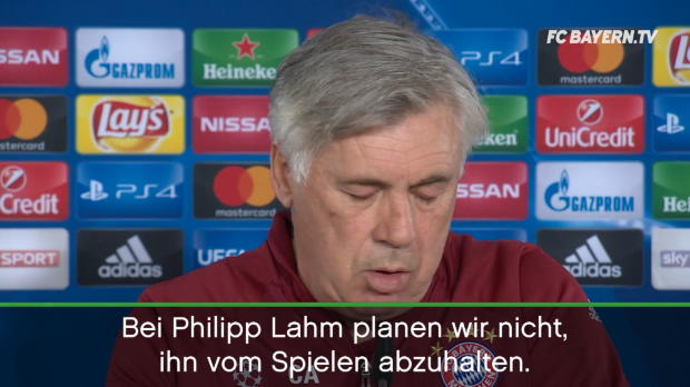 """Ancelotti: """"Lahm nicht vom Spielen abhalten"""""""