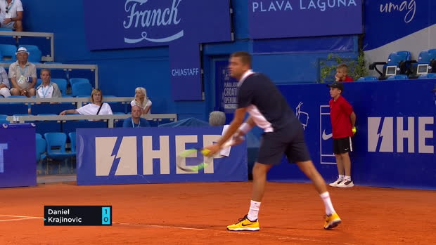 Tennis : Umag - Le Tweener dingue de Krajinovic