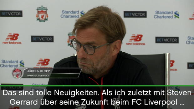 "Klopp: Gerrard als Coach? ""Win-Win-Situation"""