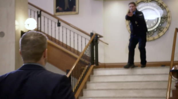 "Edge gets caught in a bank brawl in WWE Studios' ""Interrogation"""