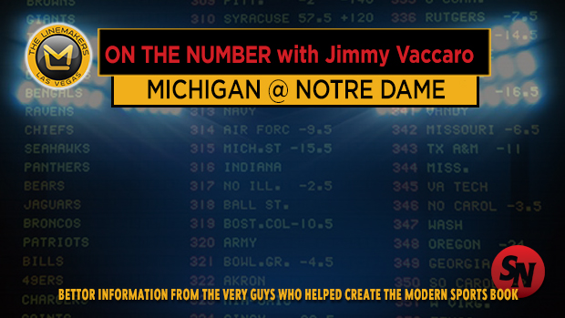 Jimmy V on Michigan @ Notre Dame