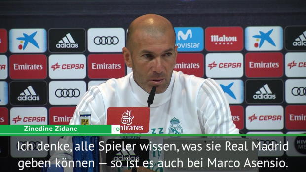 "Zidane voll des Lobes: ""Asensio phänomenal"""