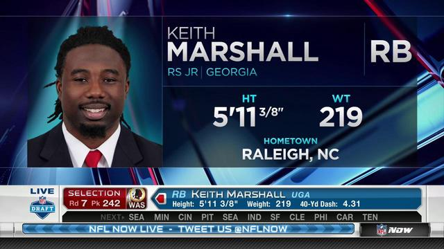 Redskins pick Keith Marshall No. 242
