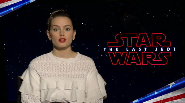 "The cast of ""Star Wars: The Last Jedi"" honor U.S. servicemembers"
