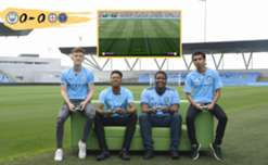 Our eSports star Marcus Gomes teamed up with NYCFC's Chris Holly to challenge Man City's Kez Brown to a FIFA 17 friendly at the Academy Stadium in Manchester.