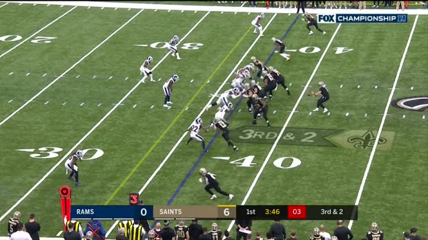 Drew Brees' best throws against Rams | NFC Championship Game