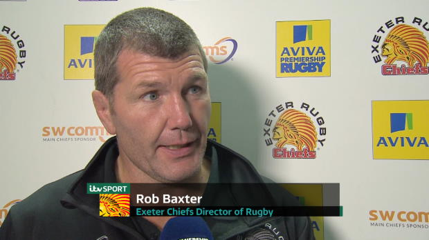 Aviva Premiership - Rob Baxter speaking after his sides victory over Harlequins at Sandy Park.