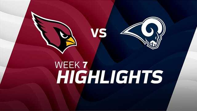 Arizona Cardinals vs. Los Angeles Rams highlights | Week 7