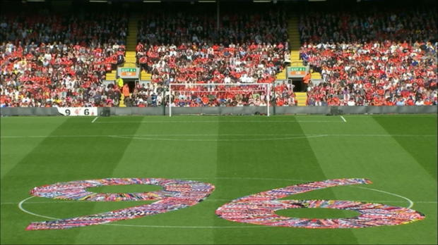Foot : P.League - Liverpool rend hommage aux victimes d'Hillsborough
