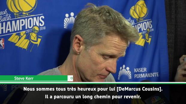 """Basket : Golden State - Kerr """"très impressionné"""" par Cousins"""