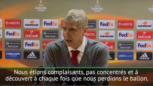 16es - Wenger - 'Nous avons été complaisants'