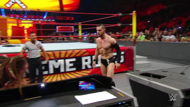 Seth Rollins frogsplashed Bray Wyatt through a table: WWE Extreme Rules 2017