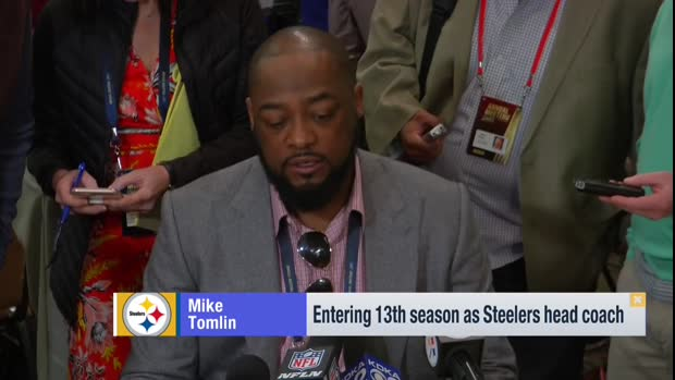 Pittsburgh Steelers head coach Mike Tomlin responds to the wide receiver Antonio Brown trade