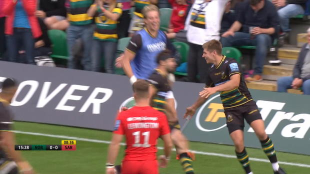 Aviva Premiership : Aviva Premiership - Match Highlights - Northampton Saints v Saracens - Round 3