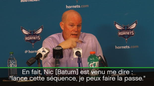 Basket : NBA - Hornets - Quand Batum donne des instructions à son coach