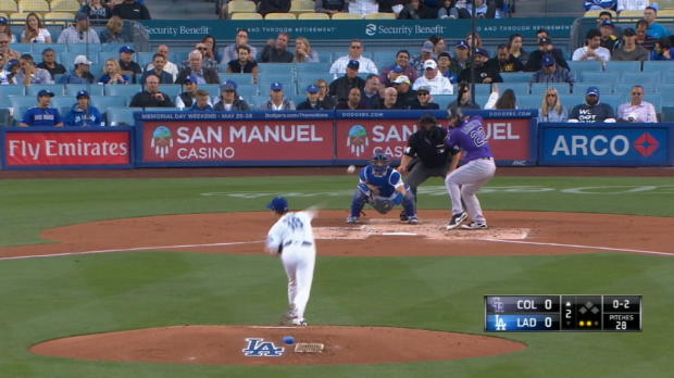 Maeda K's 12 vs. the Rockies