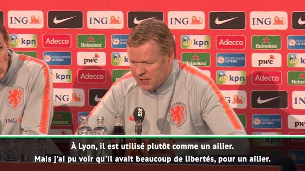 Pays-Bas - Koeman - 'Peut-être que Memphis est plus heureux au poste qu'il occupe en sélection'