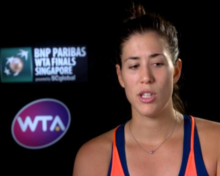 تنس: البطولة الختاميّة: موغوروزا مستاءة إزاء فشلها في اقتناص نقطة الإنتصار