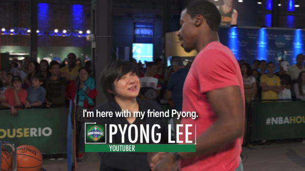 Pyong Lee and Christian Figueiredo Shoot Hoops at NBA House Rio!