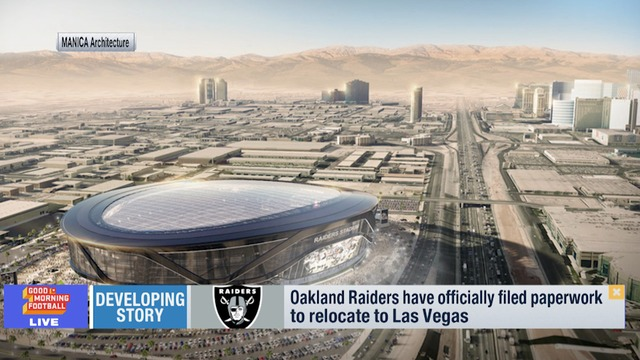 Raiders officially file Las Vegas relocation paperwork