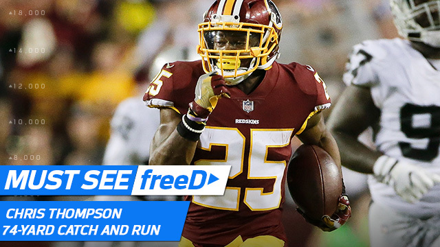 freeD: Watch Chris Thompson's 74-yard catch and run -- from his point of view