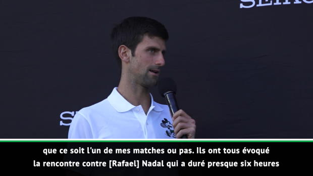 : Open d'Australie - Djokovic révèle son meilleur match disputé en carrière