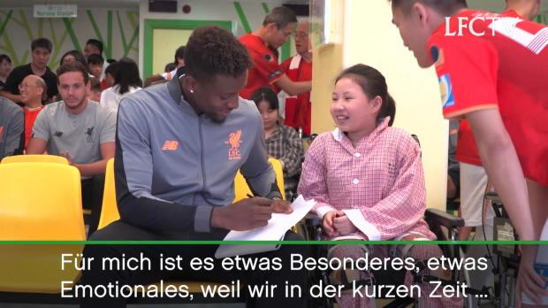 Liverpool-Stars besuchen Kinderkrankenhaus