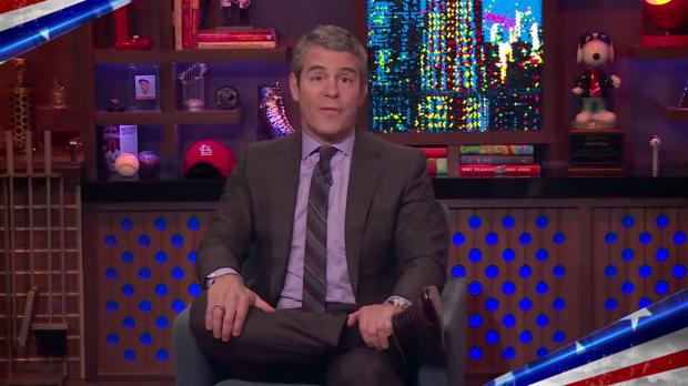 Andy Cohen salutes the U.S. military