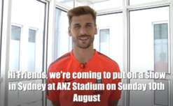 Juventus striker Fernando Llorente says the Italian giants will aim to 'put on a show' against the Foxtel A-League All Stars on Sunday night.