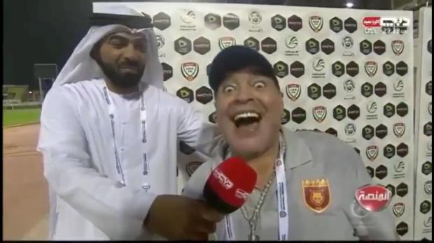VAE: Maradona gewinnt Titel und rastet aus