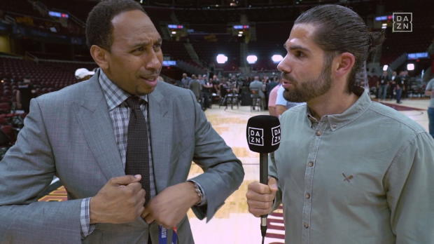 nterview mit Stephen A. Smith nach Dubs-Sieg