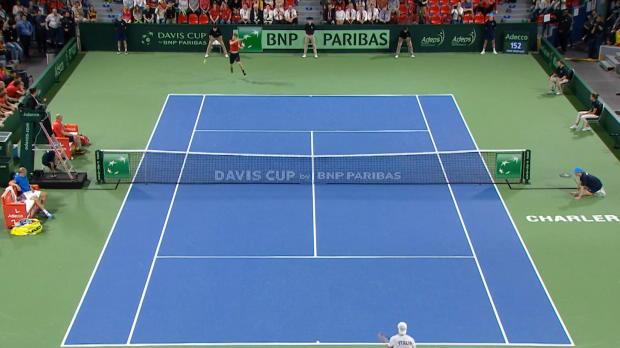 NEWS - Coupe Davis - Goffin, le coup droit foudroyant qui qualifie la Belgique